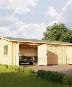 Wooden triple garage (9m x 6 m), 44mm