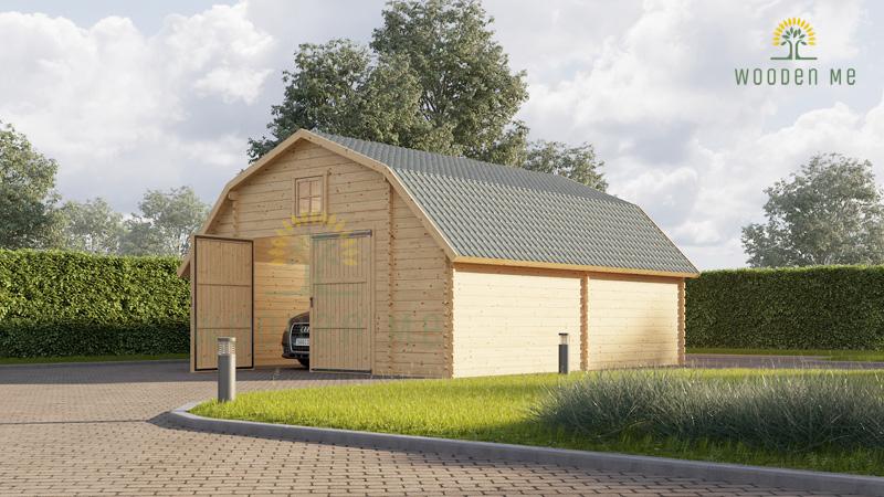 Wooden garage Sawyer (5m x 6 m), 44mm
