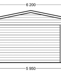 Double carport with shed (6m x 7.5m), 44mm - side