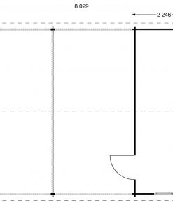 Double carport with shed (6m x 7.5m), 44mm - floor plan