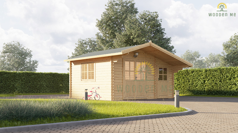 Wooden cabin BENINGTON (4.5m x 3m), 34mm