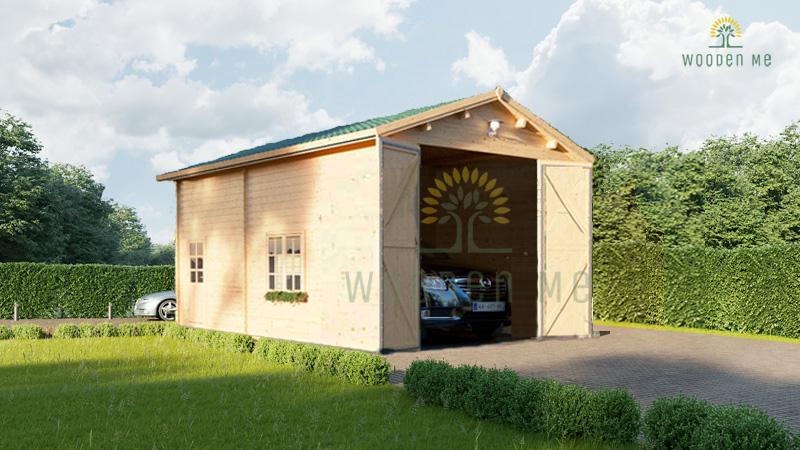 High garage Camping (4m x 8m), 44mm
