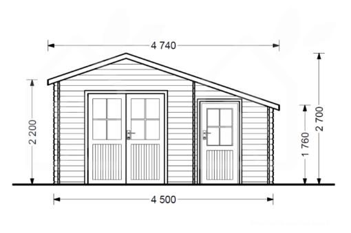 Wooden cabin BENINGTON - front view