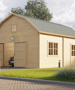Wooden garage Mississippi (5m x 6m), 44mm