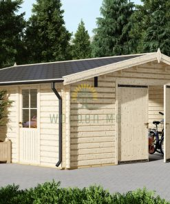 Wooden garage (6m x 6m), 44mm/66 mm