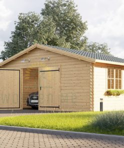 Wooden garage (5m x 6m) / (4m x 5.95m), 44mm