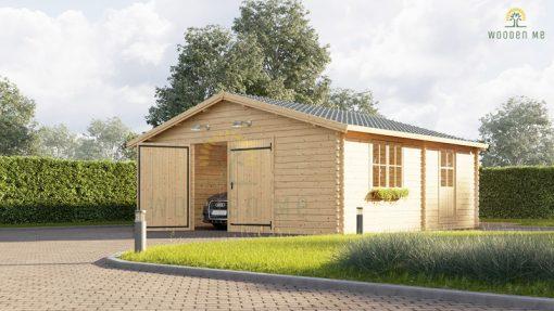 Wooden garage (5m x 6m) / (4m x 5.95m), 44mm