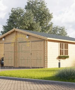 Double wooden garage Hangar (6m x 9m)