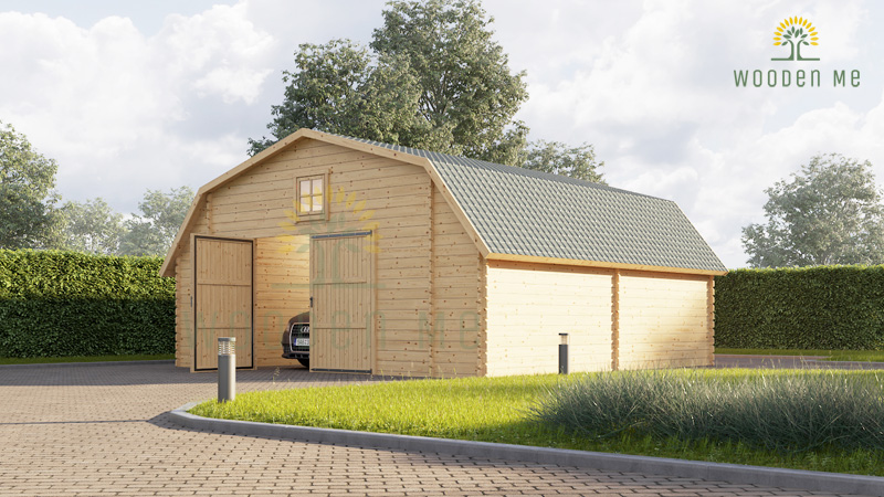 Exclusive design garage Texas (6m x 6m), 44mm