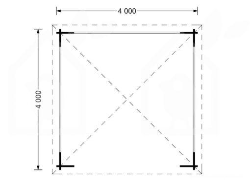 Arbour Tonnelle 16 m², 44mm