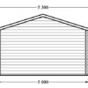 Wooden garage (5m x 6m), 44mm - back
