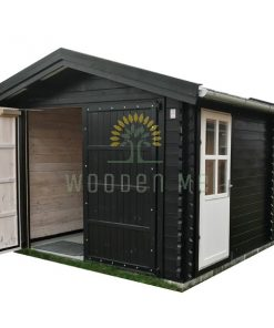 Wooden garage (3.60m x 5.35m), 44mm