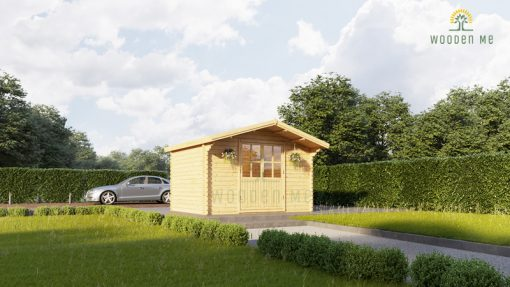 Wooden shed Peter 3m x 3m, 34 mm