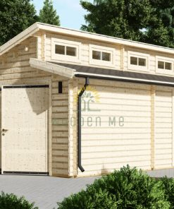 Single garage Twin (4m x 6m), 44mm