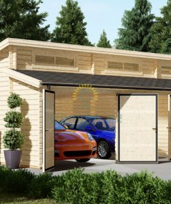Modern double garage (8m x 6m), 44mm