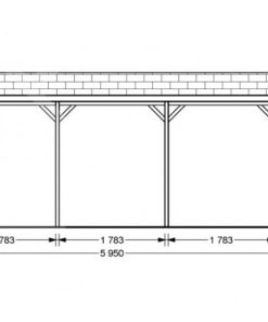Carport Classic 3m x 6m, 18m² view from side.