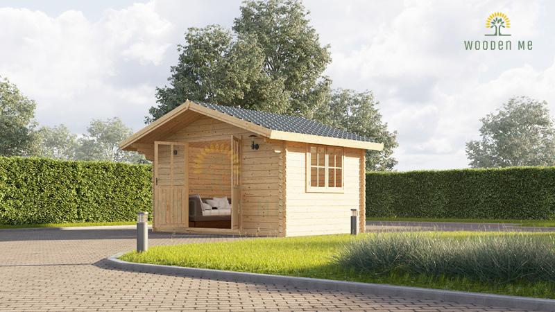 Garden cabin Rennes (4m x 3m), 34mm: