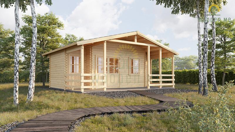 Wooden cabin Paris (6.7m x 5.7m)
