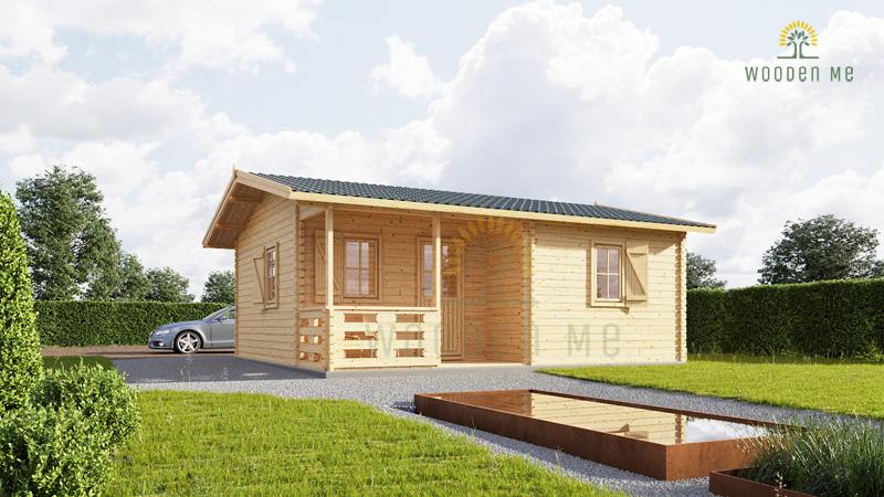 Wooden house Nantes (6m x 4.7m)