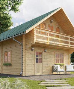 Wooden summerhouse Langon (6m x 8.7m)