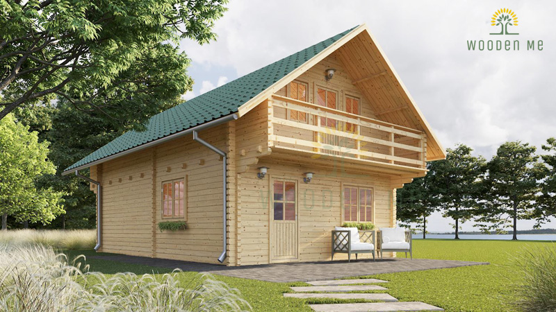 Wooden summerhouse Langon (6m x 8.7m)