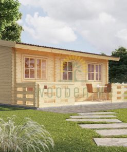 Wooden summerhouse Alto 31 m² (6m x 6.7m) + 8 m² terrace