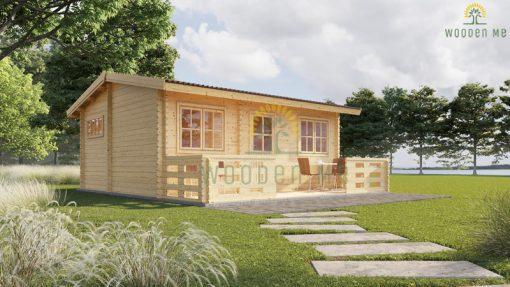 Wooden summerhouse Alto 31 m² (6m x 6.7m) + 8 m² terrace