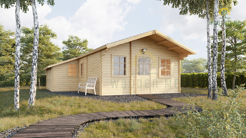 Wooden summerhouse Dijon (6.6m x 7.8m)