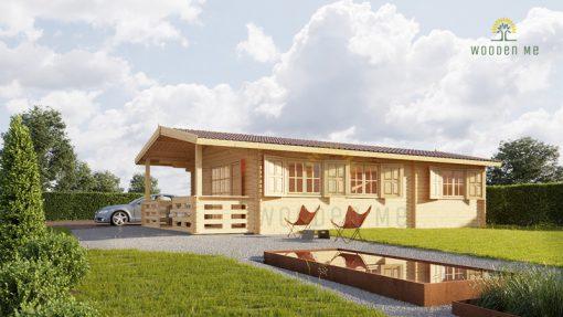 Wooden summerhouse Hymer (5.2m x 10.2m)