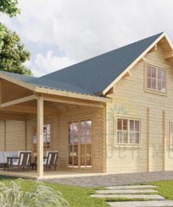 Wooden summerhouse Versailles 11.9 m x 9.65 m