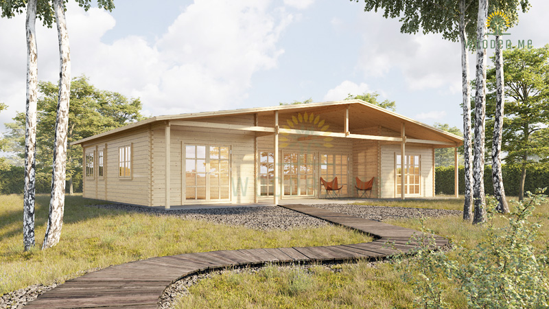 Wooden house RIVIERA (1300 cm x 800 cm)