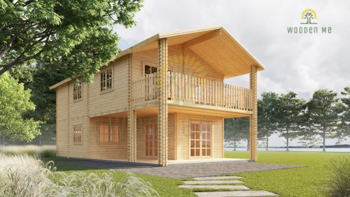 2 storey wood house,Toulouse (6m x 11m)