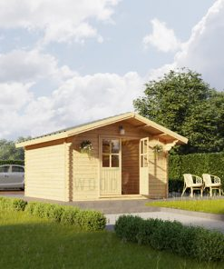 Wooden cabin PALMA 4m x 4m, 34mm
