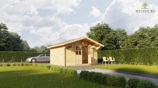 Wooden cabin PALMA 4m x 4m, 34mm