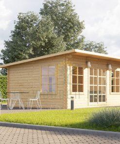 Wooden cabin Essex (5m x 4m), 44mm