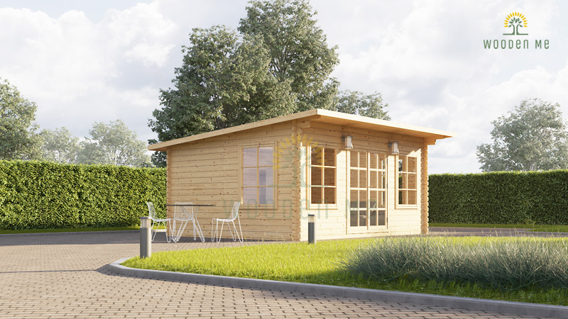 Wooden cabin Essex (5m x 4m), 44mm