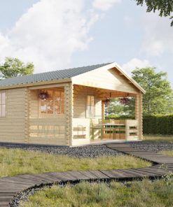 Wooden house Shanon (4m x 4m) + terrace, 44mm/66mm