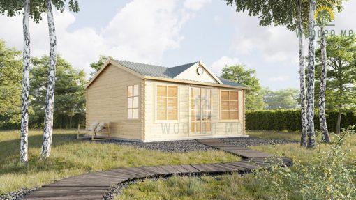 Wooden cabin Bruxelles (4m x 3m), 44mm