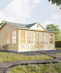 Wooden cabin Bruxelles (5.5m x 4m), 44mm/66mm