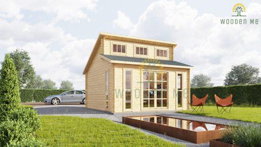 Wooden cabin ALABAMA (4.5m x 4.5m), 44mm
