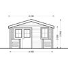 Wooden house Shanon (4m x 4m) + terrace,