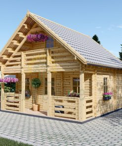Wooden summerhouse Livington (6m x 6m)
