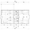 Wooden summerhouse Versailles 11.9 m x 9.65 m -Floor plan 2