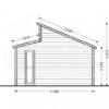 Wooden cabin ALABAMA (4.5m x 4.5m), - Side
