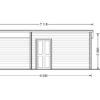Carl 20 m2 + 8 m2 terrace