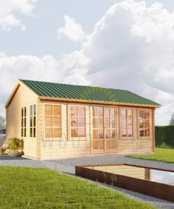 Wooden cabin Devon (6m x 4m), 44mm/66mm