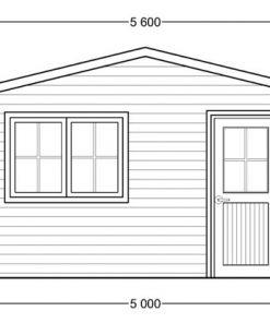 Garden house Dreux 20m² (5x4)