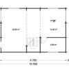 Wooden summerhouse Langon (6m x 8.7m) - floor plan II