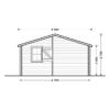 Wooden house Nantes (6m x 4.7m) - side