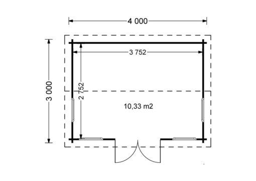 Poolhouse - Floor plan